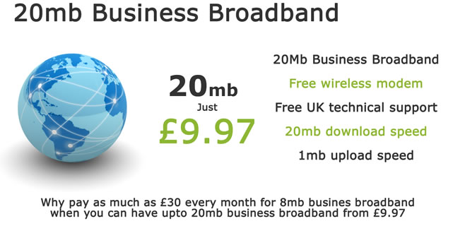 Cheap business broadband & calls deals